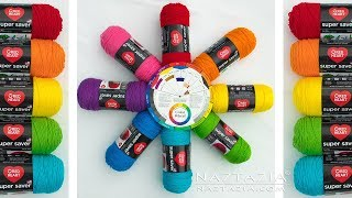 How to Choose Colors for Knitting and Crochet with a Color Wheel - Naztazia with Moogly