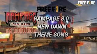 FREE FIRE|| RAMPAGE 3.0 THEME SONG LYRIC