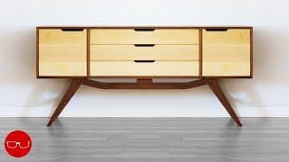 Making A Bedroom Dresser - Mid Century Modern Woodworking