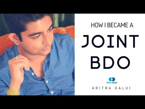 Featuring Mr. Aritra Dalui, Joint BDO, 2016