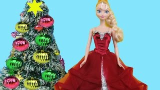 Christmas Tree Decorating! Elsa and Anna toddlers make Wish Lists for Santa, sing Carols & have fun