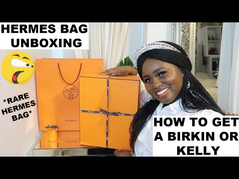 HERMES BAG UNBOXING   HOW TO GET A BIRKIN OR KELLY   *RARE HERMES BAG*   Fashion's Playground