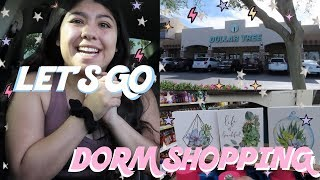 COLLEGE DORM SHOPPING AT THE DOLLAR TREE | COLLEGE ON A BUDGET!