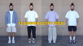 12 EASY SUMMER OUTFITS | MINIMAL STREETWEAR | MENS FASHION 2020