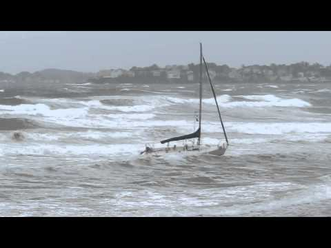 Irene Sending a Sailboat on a High Speed Collision Course With The Beach