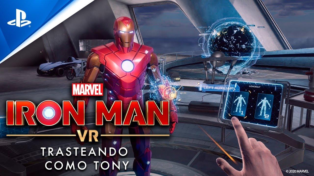 Entre bastidores: Trastea con la armadura de impulso en el garaje de Tony en Marvel's Iron Man VR