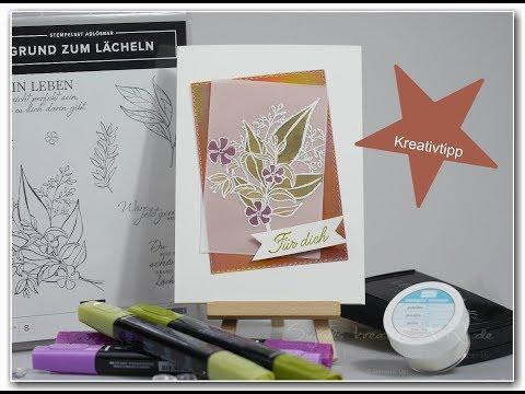Sigrids Kreativtipp - Transparentpapier kolorieren