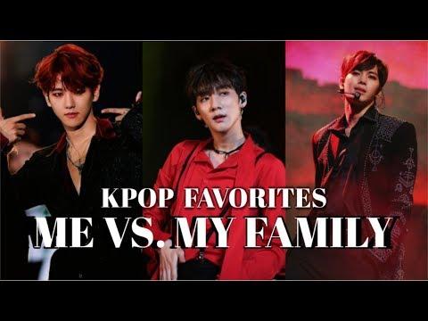 KPOP FAVORITES - ME vs. MY FAMILY (boygroup edition)