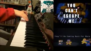 """FNAF 4 SONG -  """"YOU CAN'T ESCAPE ME"""" - Jorge A II (Amosdoll Piano Cover)"""