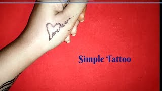 Love Tatoo Design : Simple Heart Love Tattoo Design On Hand | Tattoos Of Love Hearts- Fashion Wing