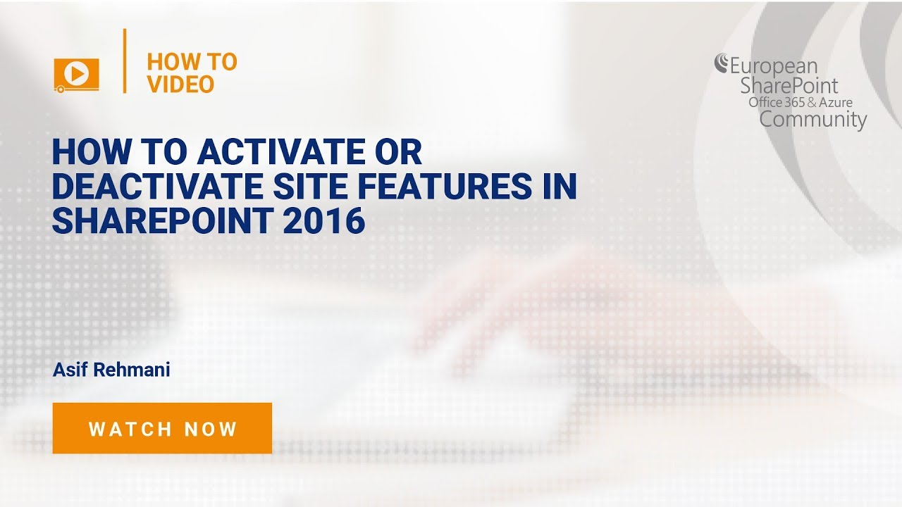 How to Activate or Deactivate Site Features in SharePoint 2016