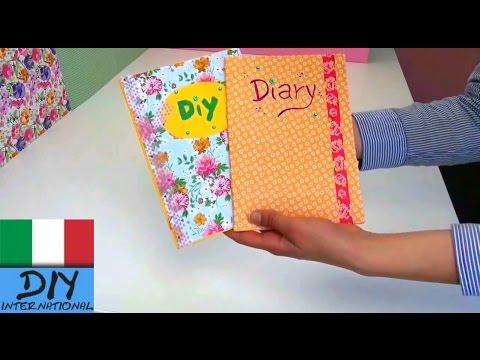 Diario DIY | taccuino con adesivi abbellire | italiano