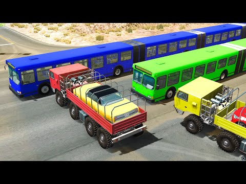ARTICULATED BUS CRASHES #3 - BeamNG Drive | CRASHdriven