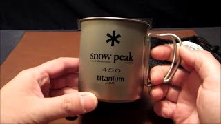 The Snow Peak 450 Titanium Single Wall Cup