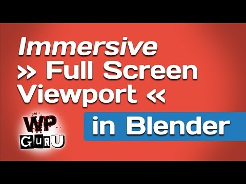 Working with a Full Screen Viewport in Blender | JAY VERSLUIS