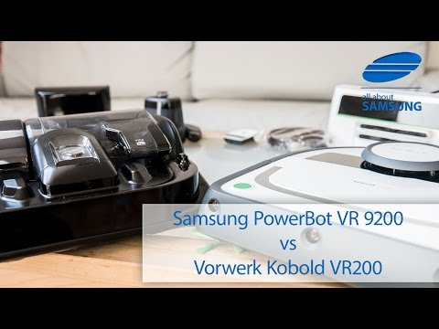 Samsung PowerBot VR9200 vs Vorwerk Kobold VR200 Saugroboter Test