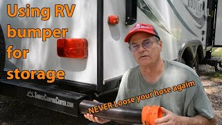Using RV bumper for storage.