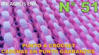 Punto a crochet Cadenas de garbanzos o punto puff para aplicar en mantitas y cobijas de bebe