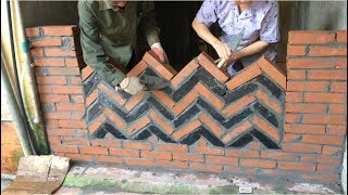 Construction Smart Brick Walls - Art Of Building Beautiful Walls From Bricks - Skillful Workmanship