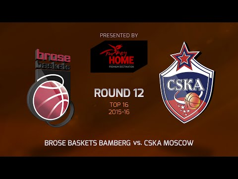 Highlights: Top 16, Round 12, Brose Baskets Bamberg 91-83 CSKA Moscow