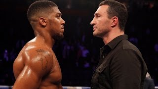 WLADIMIR KLITSCHKO GETS IN THE RING WITH ANTHONY JOSHUA TO ANNOUNCE SUPER-FIGHT ON APRIL 29th 2017