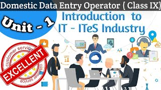 Introduction to IT - ITeS Industry Class 9 Unit -1,Domestic Data Entry Operator book