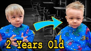 How To Cut Toddlers Hair At Home For Beginners | Professional Stylist Results! |