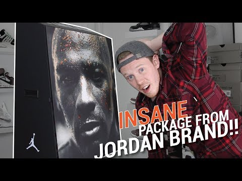 LOOK WHAT JORDAN BRAND SENT ME! INSANE SNEAKER PACKAGE!