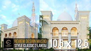 Video Desain Masjid Classic 2 Lantai Riyadhuul Ulum di  Jakarta