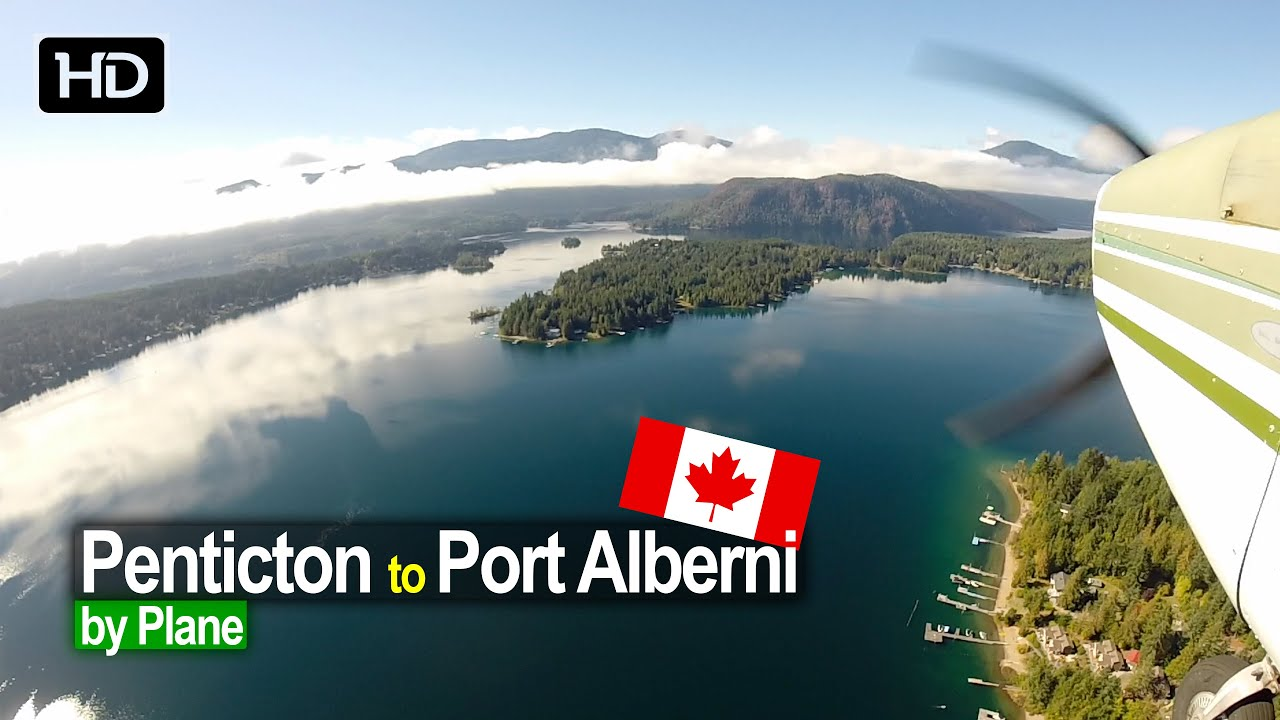 Flying from Penticton to Port Alberni on Vancouver Island