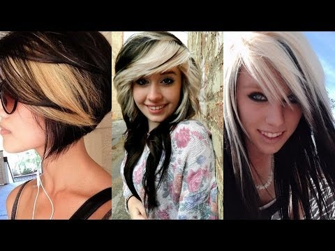 Black Hairstyles with Blonde Highlights