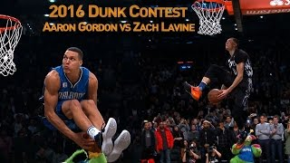 Download Youtube: Zach LaVine and Aaron Gordons AWESOME 2016 Slam Dunk Duel