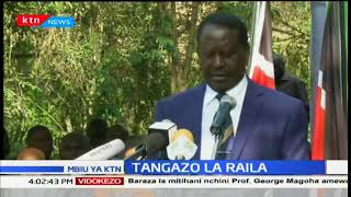 Raila Odinga acknowledges the members present and sends apologies for Senator James Orengo