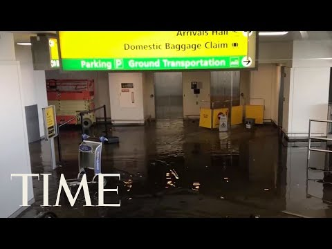 Officials Investigating Cause Of Massive Floods At JFK Airport, Say Pipe Break Weather-Linked | TIME