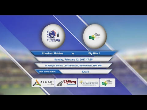 Video Chesham Mobiles VS Big Bite 2 - 12-Feb-2017