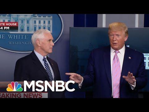 Trump: Pence Spoke 'For 5 Minutes' & Didn't 'Touch' Reporter's Question About Uninsured | MSNBC