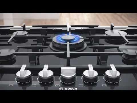 Bosch Gas Hob PCP6A6B90 - Black Video 2