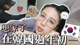 [韓國日常] 韓國的年初一很冷清? 地鐵站沒人?! 弘大的店有開嗎? 去朋友家拜年+跟狗狗玩 | Lizzy Daily