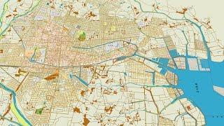 古地図で辿る名古屋400年No4 昭和時代の幕開け、敗戦と戦後の復興[Network2010]