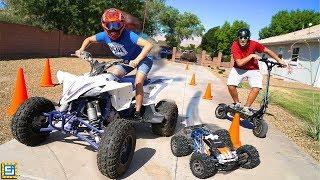 EPIC MONSTER TRUCK RC CAR VS ATV RACING Adventure!