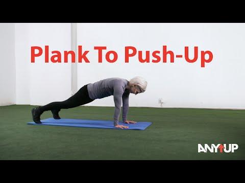 Plank to Push-Up Bodyweight Training Exercise