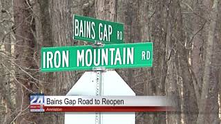 Bains Gap Road to Reopen in Anniston