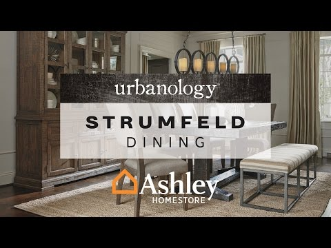 Rustic Brown Strumfeld Dining Room Table View 4 Video