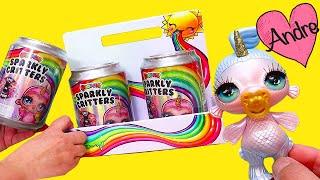 Nuevos animales unicornio Poopsie Slime | Jugando muñecas y juguetes con Andre para niñas y niños