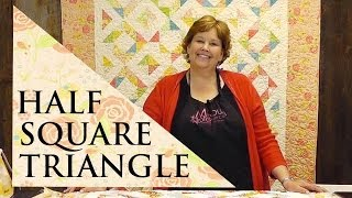 Half Square Triangle Quilt Using The Four Seasons Block