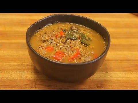 Lentil Soup Recipe – vegan soup – vegetable soup with lentils – how to cook lentils – healthy soup