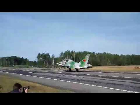 Военные самолеты садились на трассу Минск-Могилев