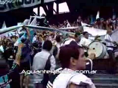 """""""Racing Club vs Gimnasia de J CL 08"""" Barra: La Guardia Imperial • Club: Racing Club • País: Argentina"""