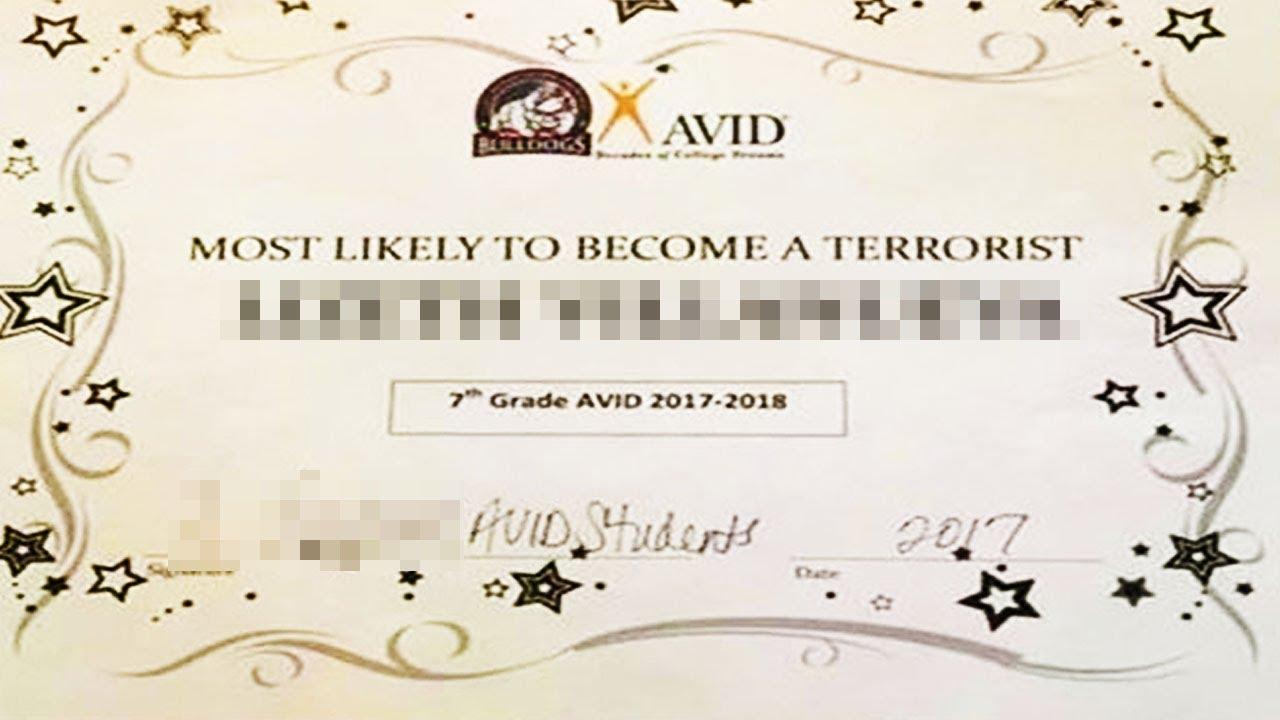 Terrorist Award Given To Middle-Schooler thumbnail