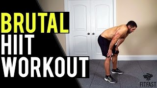 Brutally Tough 15 Minute Home Body Weight HIIT Workout | Quick Cardio Workout to Lose Belly Fat by BarbarianBody